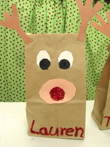 Paper Bag Reindeer Because We Are Moms